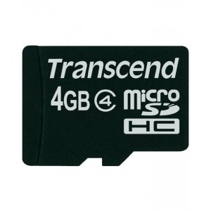 TRANSCEND Memory Card - Micro SD - 4GB