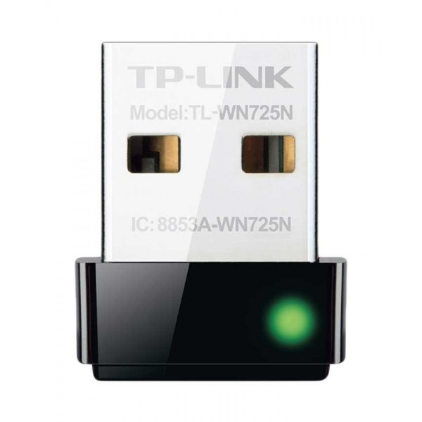TP-Link TL-WN725N - Wireless N Nano USB Adapter for PC - 150Mbps - Black