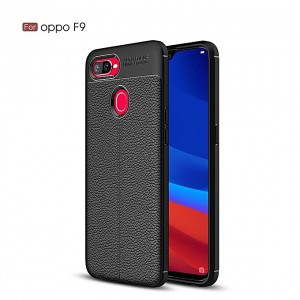 Auto Focus Oppo F9 Shock Proof Carbon Fiber Rugged Armor Soft Back Case
