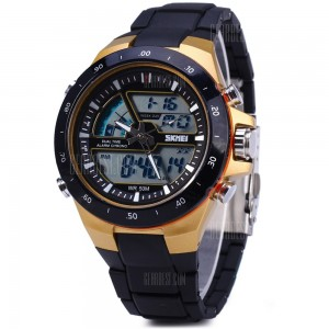 Skmei New Sports Water Resistant Dual Display Watch 1016 -Black