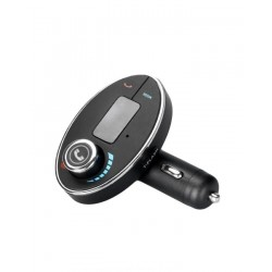 Bluetooth MP3 Player FM Modulator and Car Charger - Black