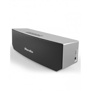 Bluedio BS-3 (Camel) Wireless Portable Mini Bluetooth Home Theater Party Speaker with 3D Stereo Sound - Silver