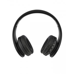 Generic Digital Wireless Stereo 4 in 1 Foldable Headphones with FM Radio - Black