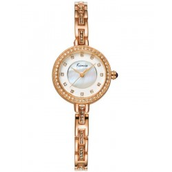 KIMIO White & Gold Wrist Watch with Free Gift Box