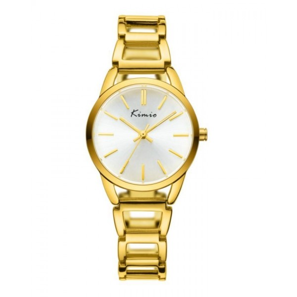 KIMIO Gold Luxury Big Round Dial Watch