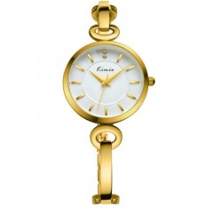 KIMIO Gold Strap Wrist Watch + Free Gift Box
