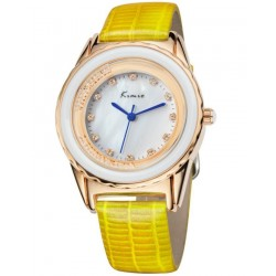 KIMIO Yellow Wrist Watch + Free Gift Box