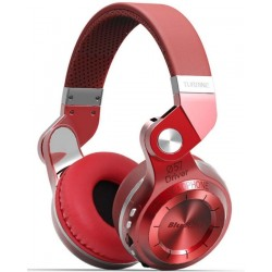 Bluedio T2+ Turbine 2(Plus) Wireless Bluetooth Headphones with micro SD card slot, FM & Built-in Microphone - Red