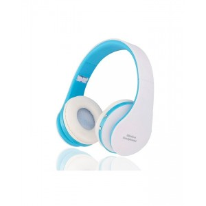 Wireless Stereo Foldable Headphones - White + Blue