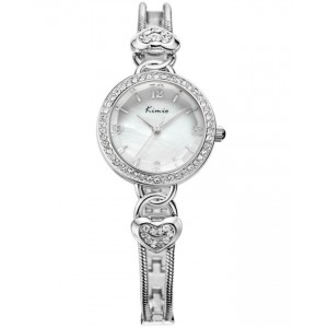KIMIO Elegant Silver Crystal Watch + Free Gift Box