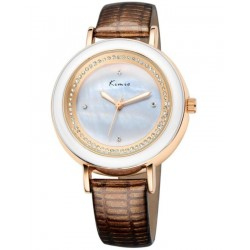 KIMIO Exquisite Brown Wrist Watch + Free Gift Box