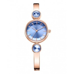 KIMIO Blue Dial Wrist Watch + Free Gift Box