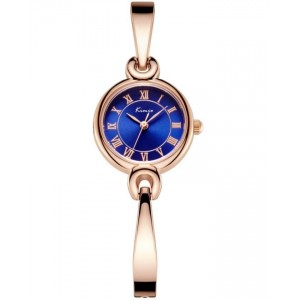 KIMIO Blue Dial With Gold Strap Watch + Free Gift Box