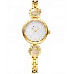 KIMIO White & Gold Wrist Watch