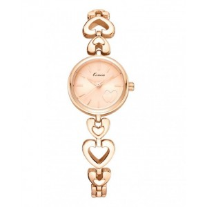 KIMIO Gold Dial Love Band Wrist Watch