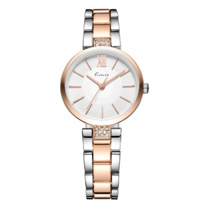 KIMIO Gold & Silver Wrist Watch + Free Gift Box