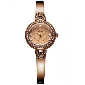 KIMIO Brown Crystal Wrist Watch + Free Gift Box