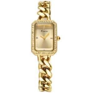 KIMIO Gold Crystal Dial Classic Watch + Free Gift Box