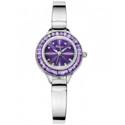 KIMIO Purple Dial Wrist Watch + Free Gift Box
