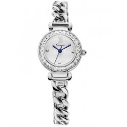 KIMIO Silver Crystal Luxury Ladies Watch
