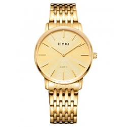 EYKI Gold Classic Executive Watch + Free Gift Box