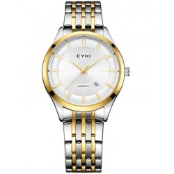 EYKI Gold and Silver Stainless Steel Executive Watch + Free Gift Box