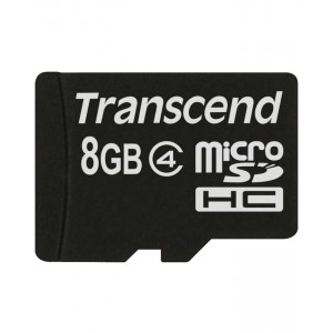 TRANSCEND Memory Card - Micro SD - 8GB with Adaptor
