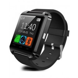"U8 - 1.48"" - Bluetooth Smart Watch - Black"