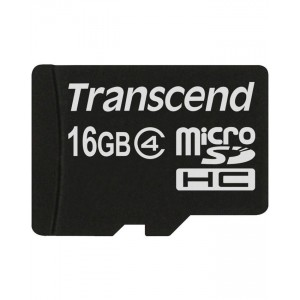 TRANSCEND Memory Card - Micro SD - 16GB - Class 4