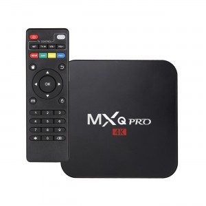 MXQ Pro 4K Android Internet TV Box - WiFi - 1GB RAM - 8GB ROM - UK PLUG - Black