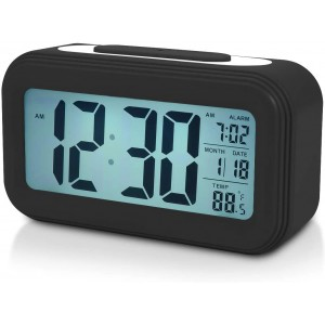 LED Digital Backlit Alarm Clock WithThermometre And Calender