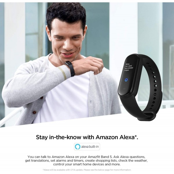 Amazfit Band 5 Fitness Tracker with Alexa Built-in