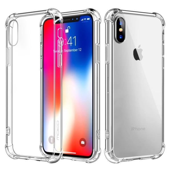 iPhone X Crystal Clear Case Shockproof TPU Edge + Rigid PC Hard Back Cover