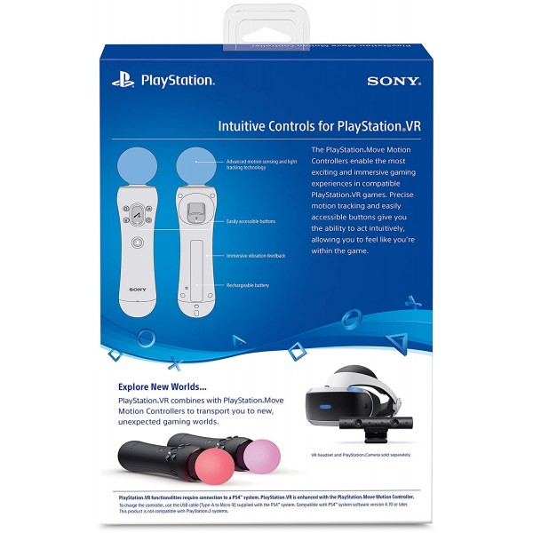 Sony PlayStation Move Motion Controllers - Two Pack