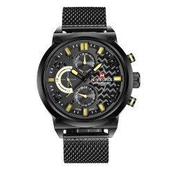 NAVIFORCE 9068 Chronograph Black Dial Men's Watch