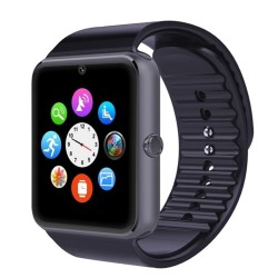 "Smartwatch A1 - 1.54"" Smart Watch Phone - 128MB ROM - 64MB RAM - 0.3MP Camera - Silver + Black"