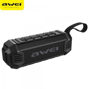 Awei Y280 IPX4 Bluetooth Speaker Power Bank with , Built-in Mic, Support FM / USB / TF Card