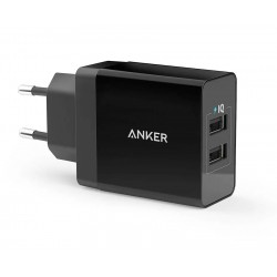 Anker 24W 2-Port USB Wall Charger with PowerIQ (EU Plug)