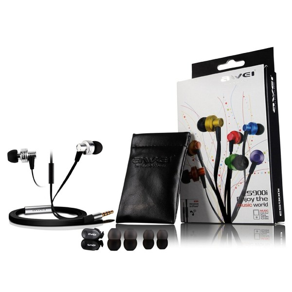 Awei ES900i – High Quality Super Bass Metallic Earphones with Mic