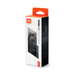 JBL TUNE 210 - In-Ear Headphone with One-Button Remote/Mic - Black