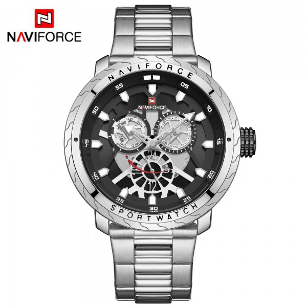 NAVIFORCE 9158M Wristwatch Quartz Watch Men Sport  12/24 Hour Display