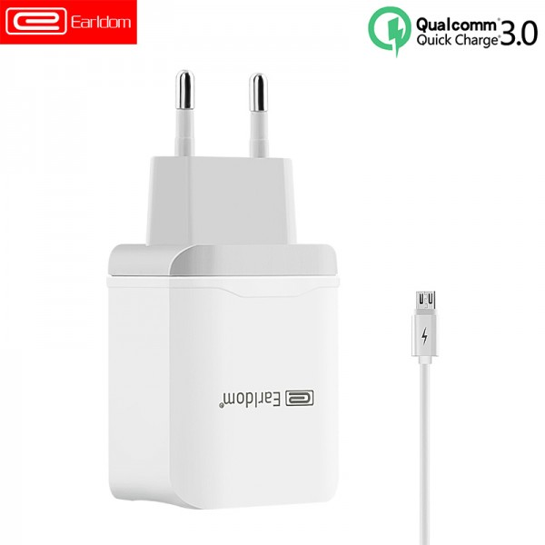 Qualcomm  Earldom Fast Charge 3.0 Adapter USB Power Quick Wall Charger EU Plug