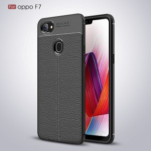 Auto Focus Oppo F7 Shock Proof Carbon Fiber Rugged Armor Soft Back Case