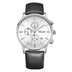 MEGIR M2011 Men Fashion Quartz Chronograph Watch