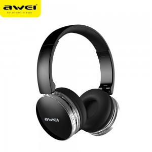 Awei A500BL Foldable HI-Fi Stereo Wireless Bluetooth Headphones Black