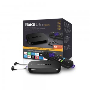 ROKU Ultra - HD/4K/HDR Streaming Media Player with Premium JBL Headphones.