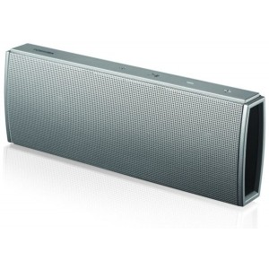 Toshiba TY-WSP61 Slim Wireless Speaker - 2x3W RMS + Passive Radiator with Mic - Silver
