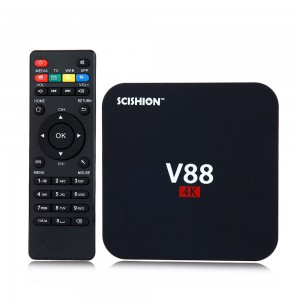 SCISHION V88 Plus 4K Android Internet TV Box - WiFi - 1GB RAM - 8GB ROM - Black