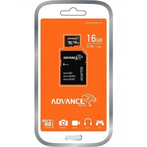 Advance microSD Memory Card - 16GB - Black