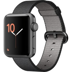 Apple Watch Series 2 38mm Smartwatch (Space Gray Aluminum Case, Black Woven Nylon Band)